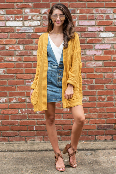 The Samantha Cardigan, Mustard