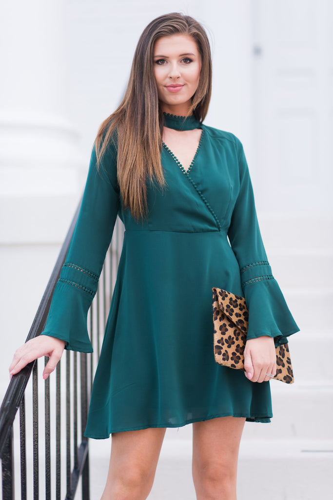 Night On The Town Dress, Emerald