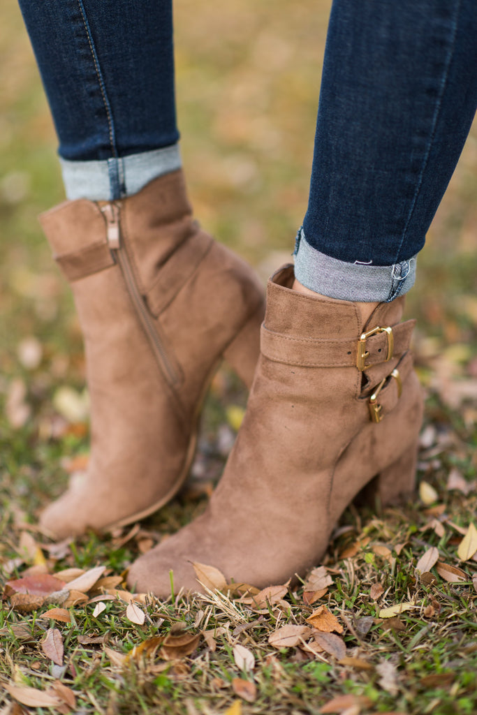 Shake It Booties, Taupe
