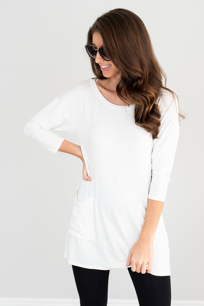 Medley In Love Off White Pocket Tunic