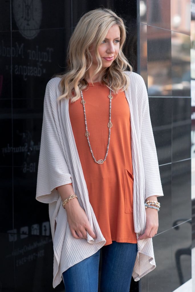 Medley In Love Rust Orange Pocket Tunic