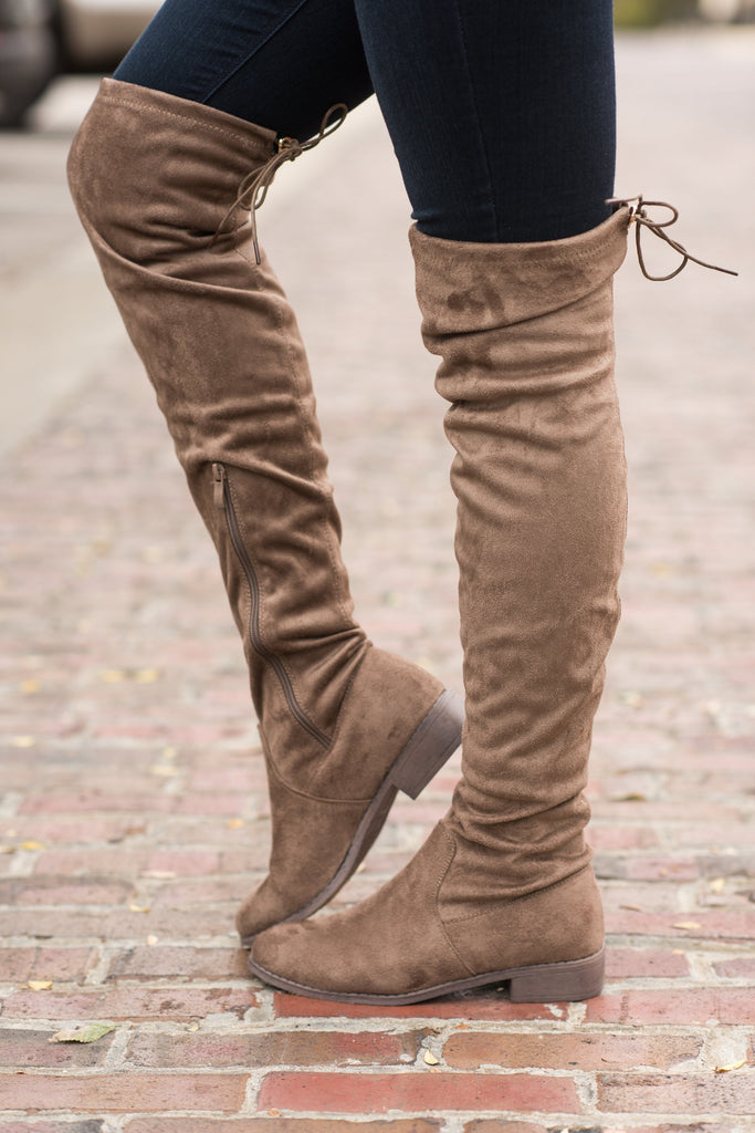 Standing Tall Boots, Taupe