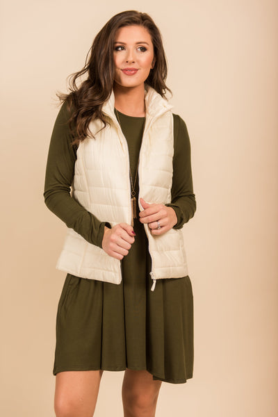 Chilly Destinations Vest, Cream