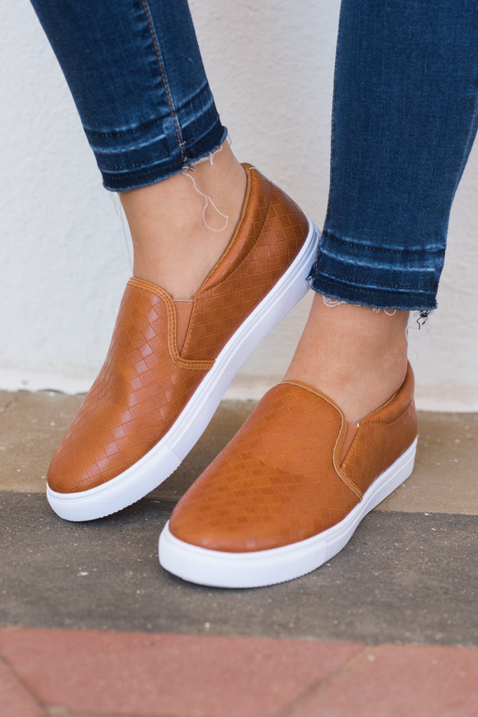 Best Foot Forward Sneakers, Cognac