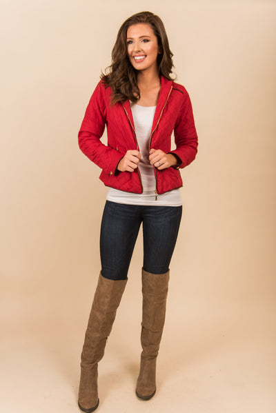 City Streets Jacket, Red