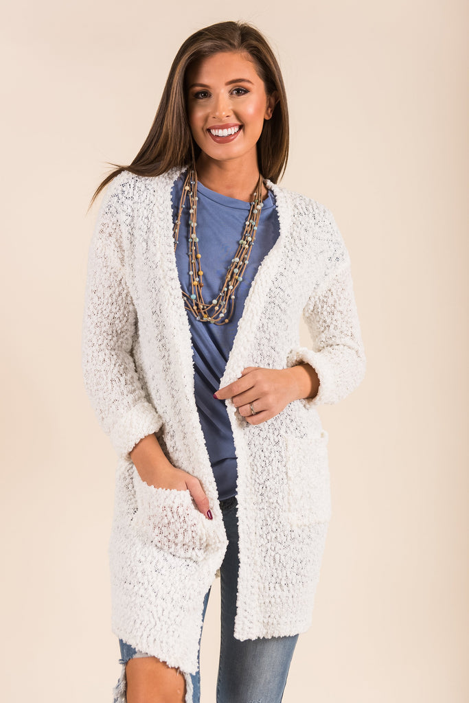Came To Cuddle Cardigan, Ivory