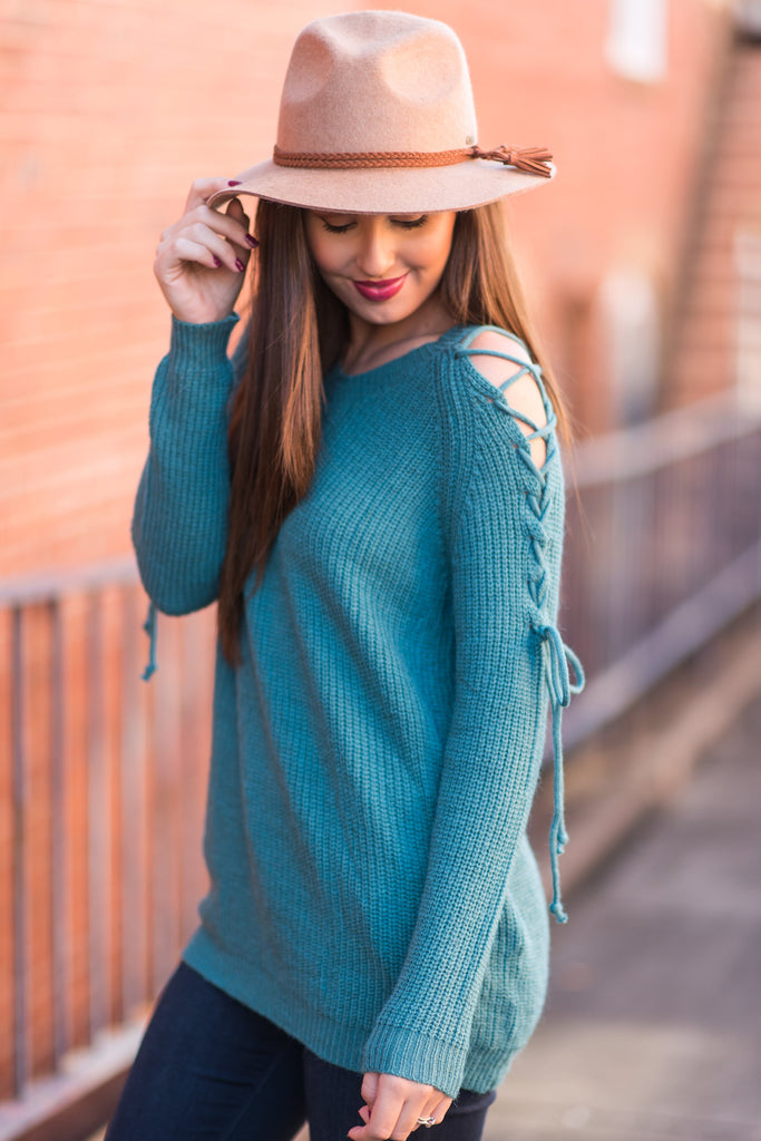 Say What You Will Sweater, Teal