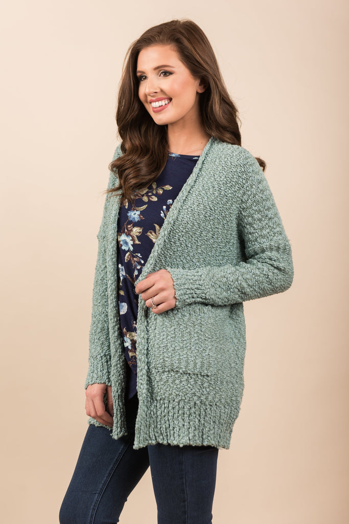 Must You Ask Cardigan, Teal
