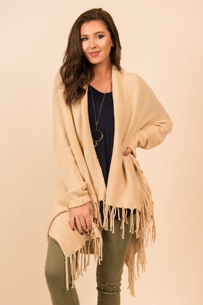 Keep It Up Cardigan, Nude