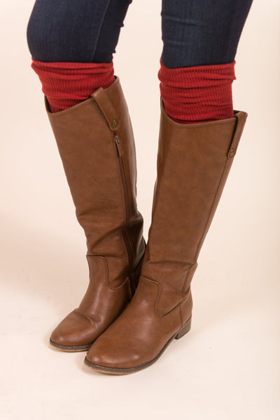 Love The Layers Boot Socks, Rust