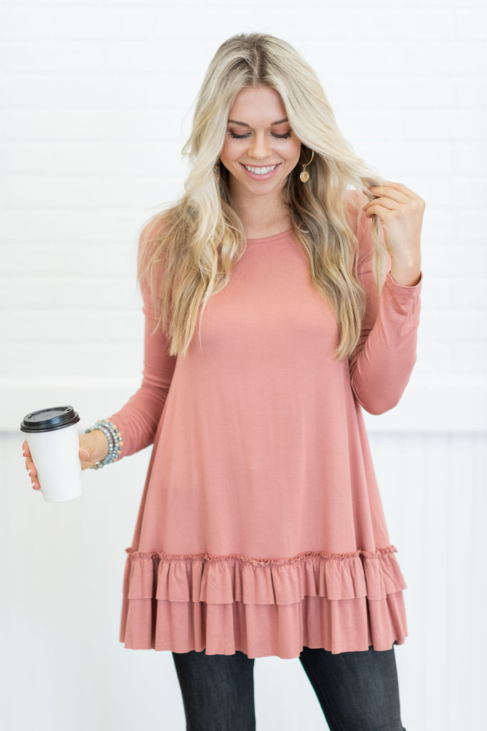 Care To Unwind Tunic, Brick