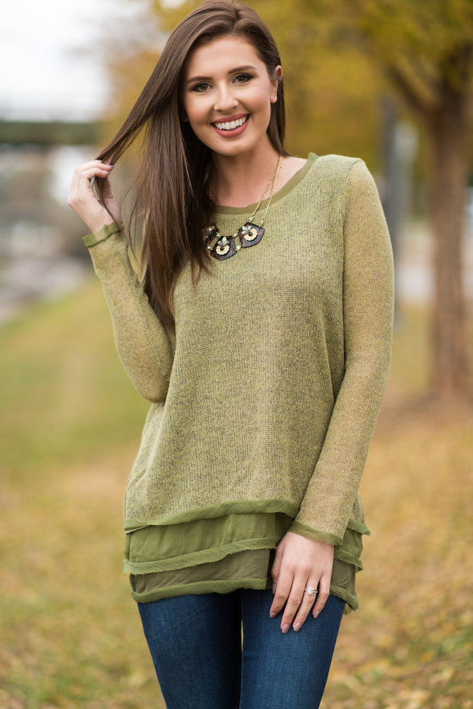 Into The Night Tunic, Olive