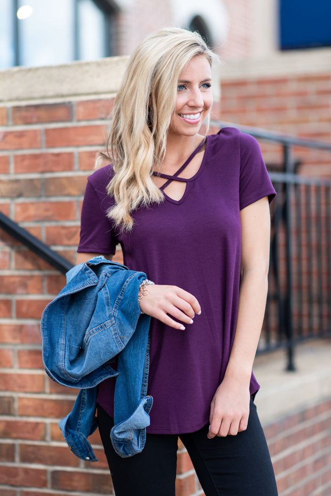 Simplistic Beauty Tee, Plum