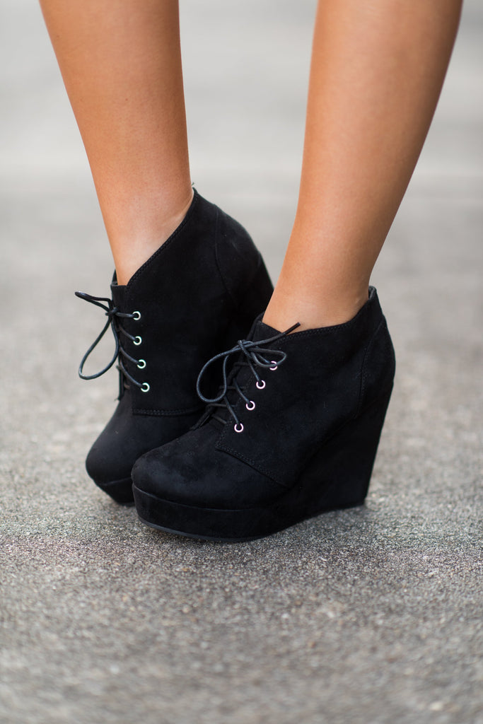 Give Em The Blues Booties, Black