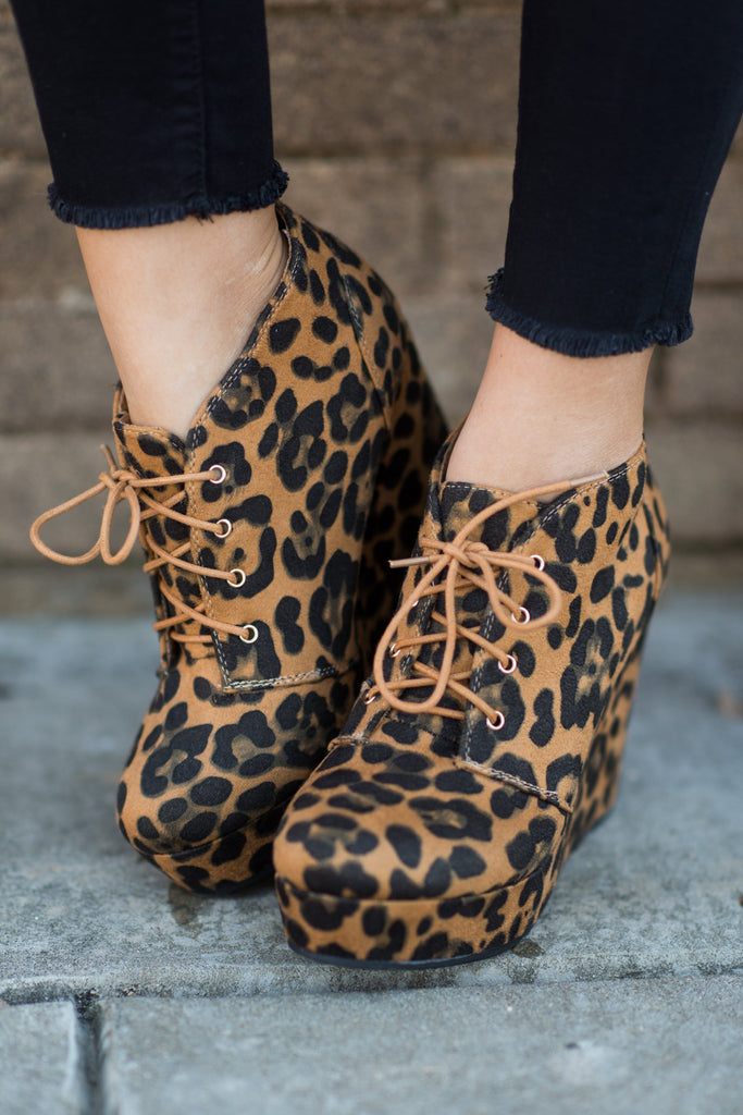 Give Em The Blues Booties, Leopard