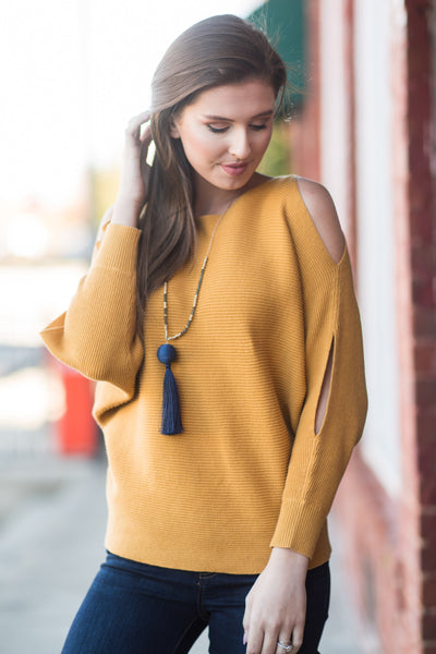 Going Shopping Sweater, Mustard