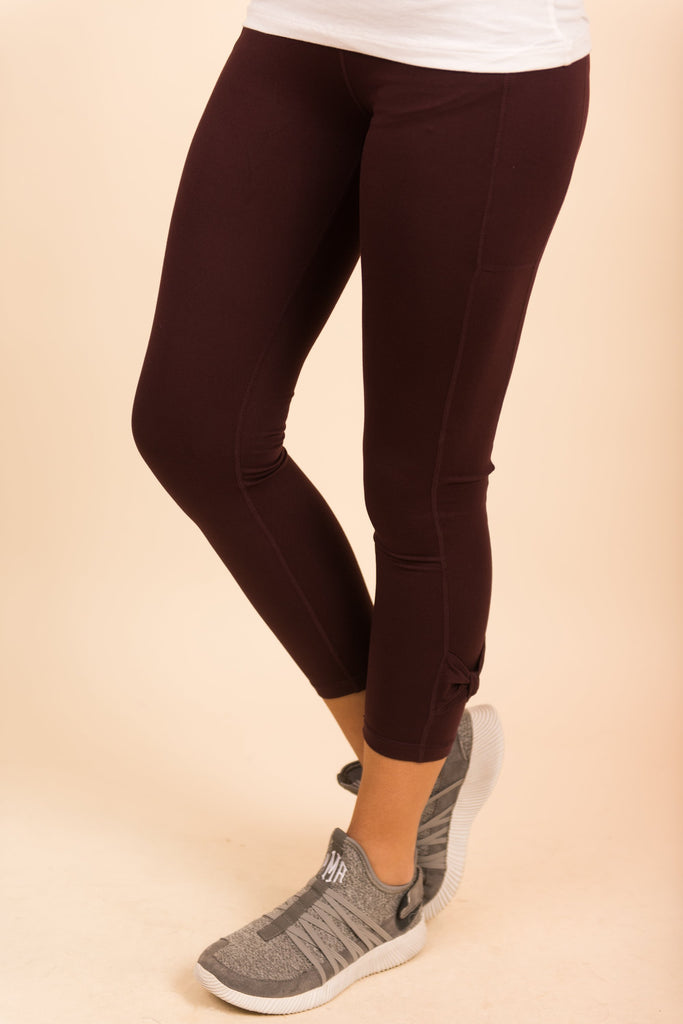 Run To You Leggings, Maroon