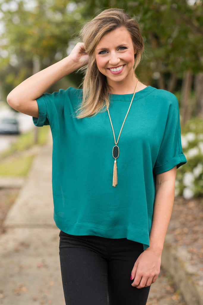 Dare To Be Confident Top, Teal