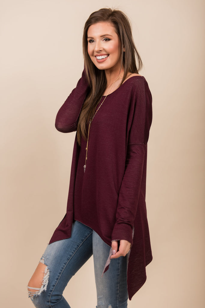Swing And Sway Top, Burgundy
