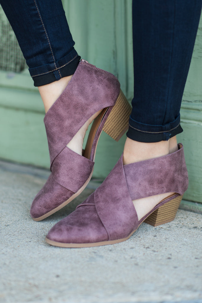 Just Go With It Booties, Rose Taupe