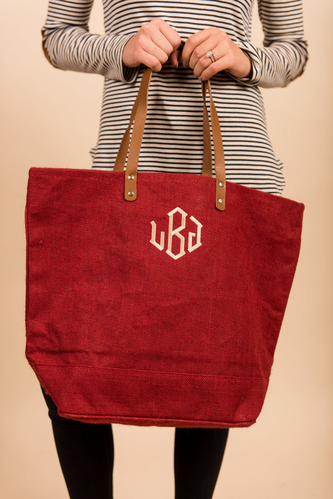 Everything You Need Tote, Red