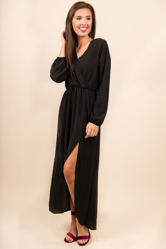 Ethereal Presence Maxi Dress, Black
