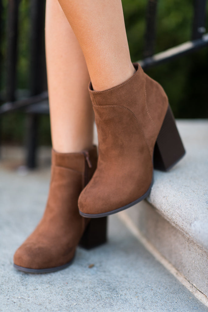 Natural Instincts Booties, Cognac