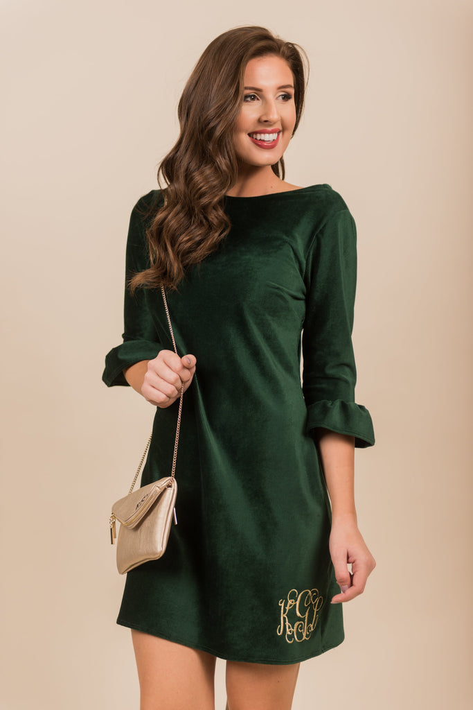 Holiday Vixen Dress, Emerald
