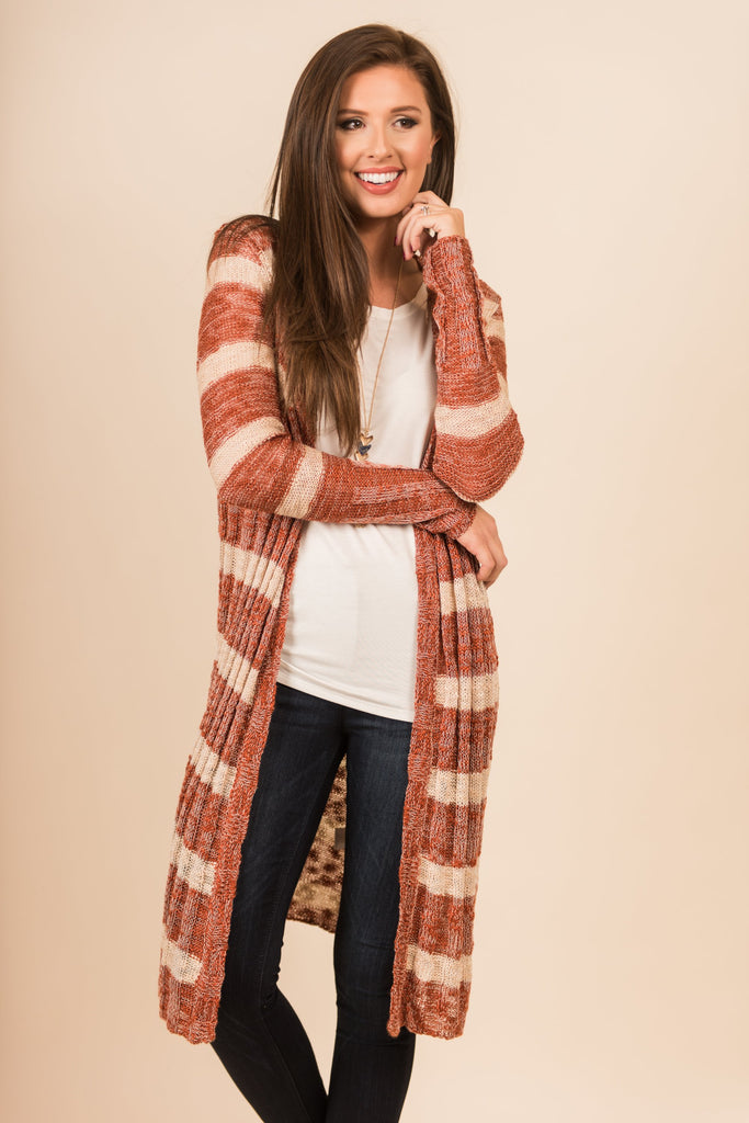 Finder's Keepers Cardigan, Burnt Orange