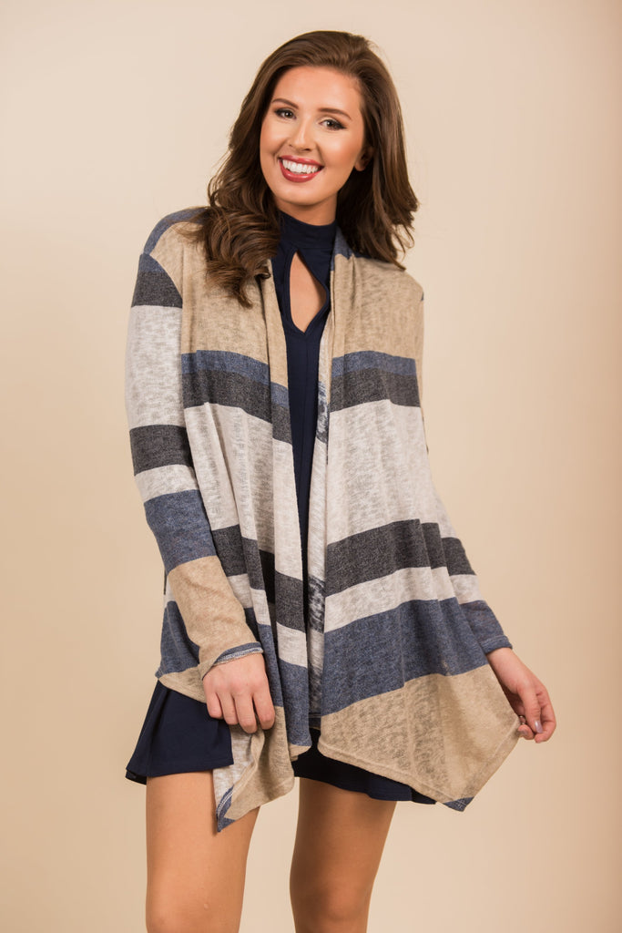 Whatever You Need Cardigan, Navy