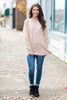 Slouchy Dolman Warm Taupe Brown Long Sleeve Tunic