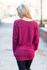 Slouchy Dolman Wine Red Long Sleeve Tunic
