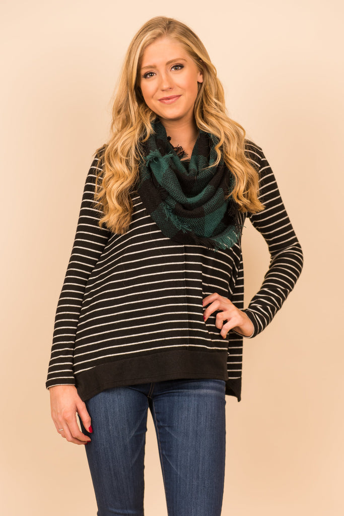 Modern Casual Top, Black