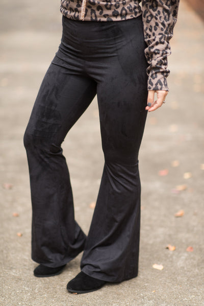 Retro Rave Bell Bottom Pants, Black