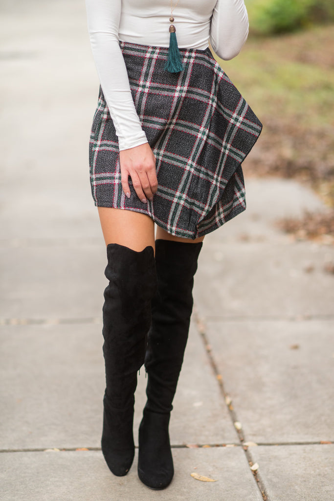 Preppy Party Skirt, Heater Gray