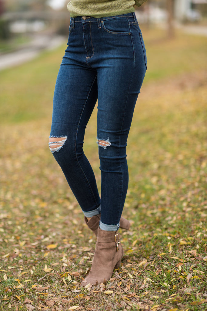 Miles From Home Skinny Jeans, Dark Wash