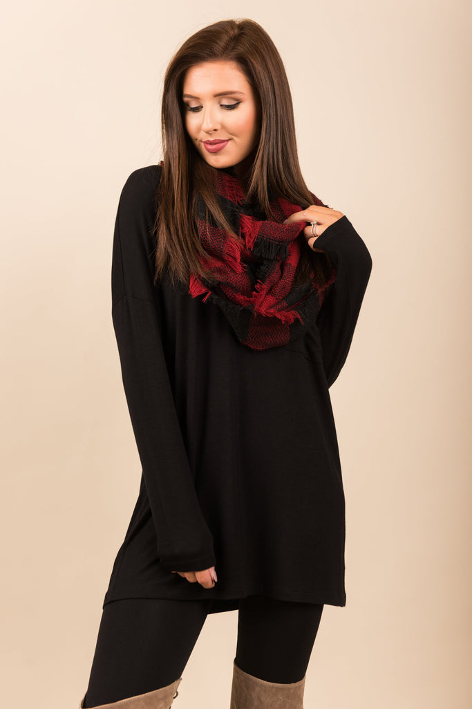 Know You So Well Tunic, Black