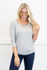 Wishful Thinking Top, Heather Gray