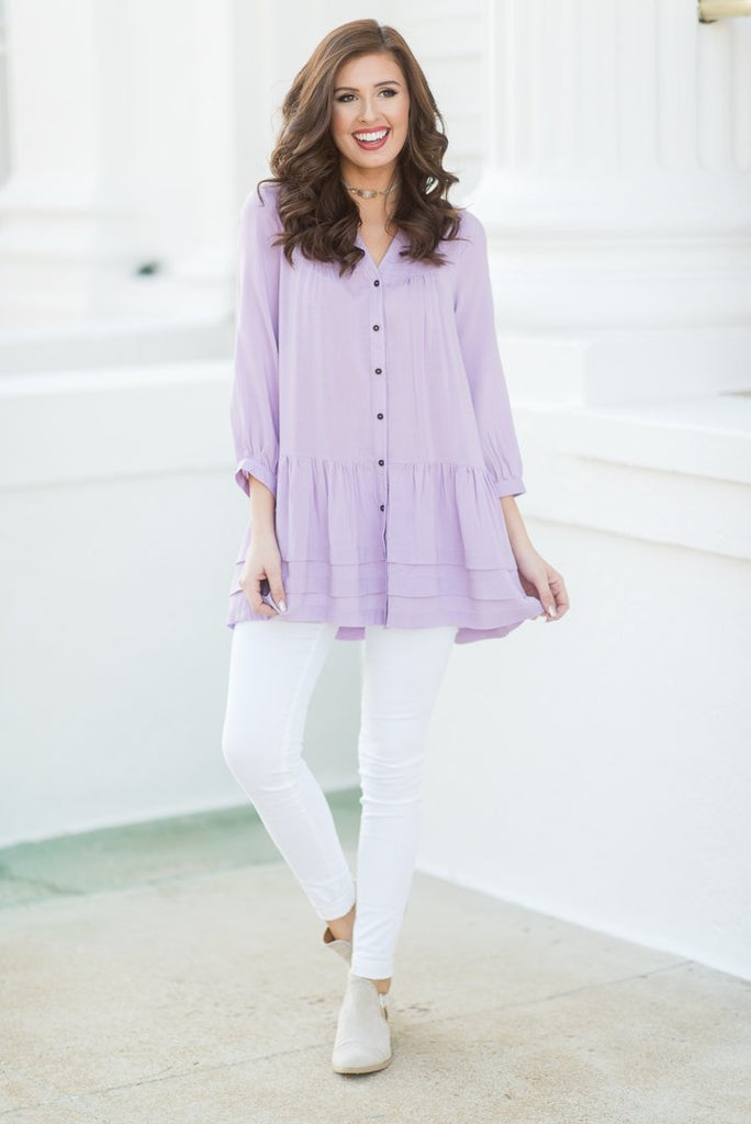 Run To You Tunic, Lavender
