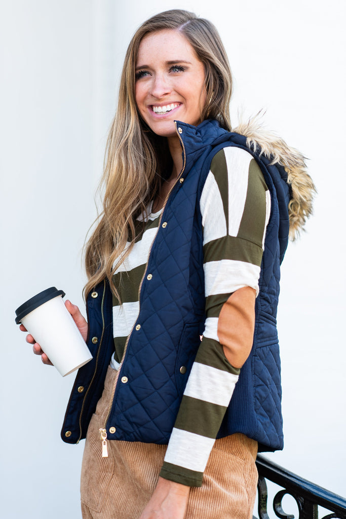 Denver Or Bust Vest, Navy