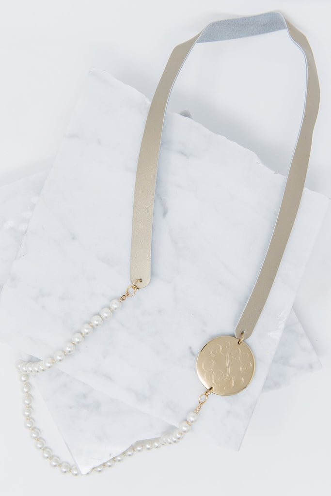 Get To Classy Necklace, Pearl-Gold