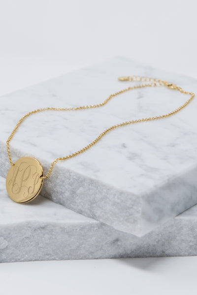 My Muse Necklace, Gold