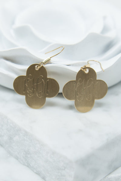 Just For Luck Earrings, Gold