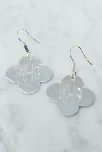 Just For Luck Earrings, Silver