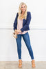 Curve Ball Blazer, Navy