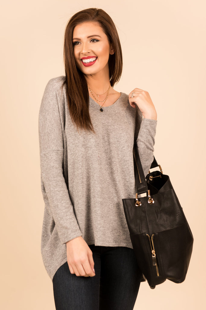 Lazy Sunday Sweater, Gray