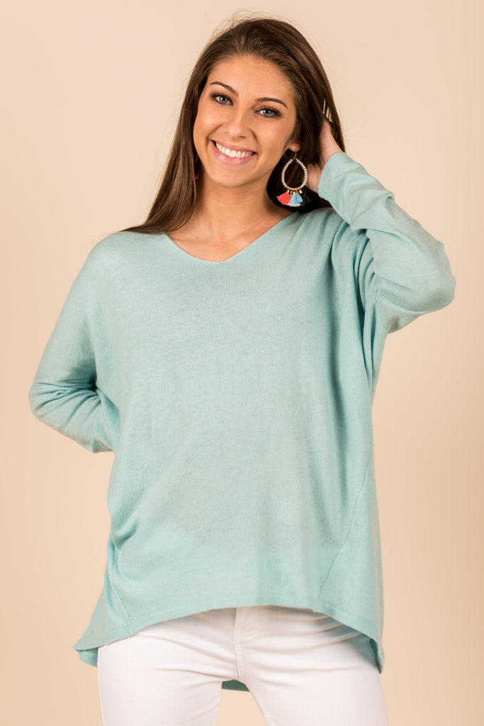 Lazy Sunday Sweater, Mint