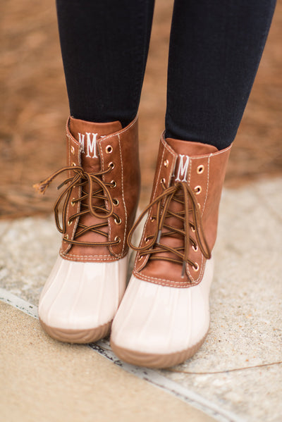 Rain Or Shine Boots, Beige