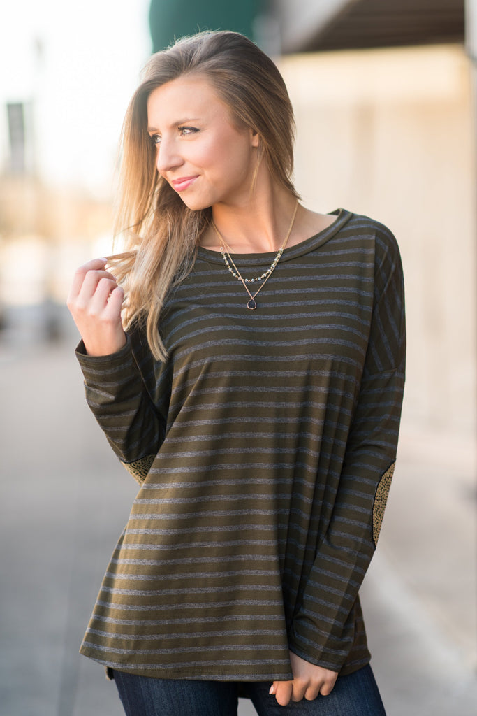 Fine To Shine Top, Olive