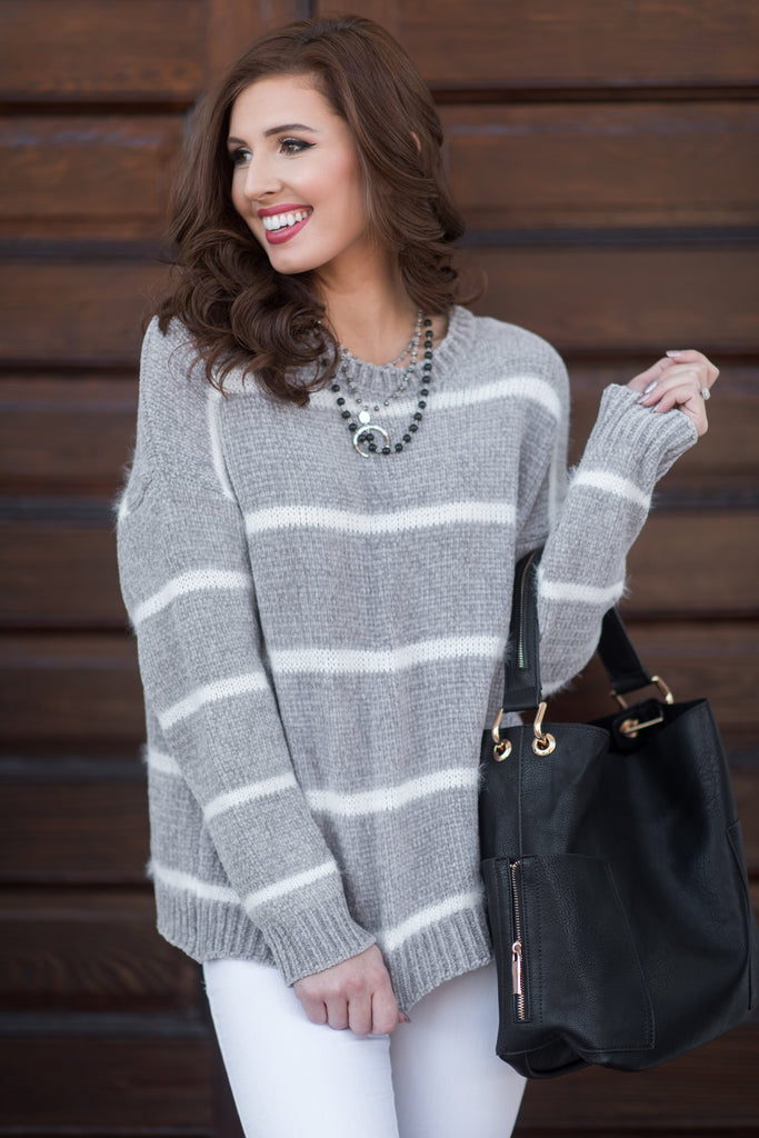 Touch Of Perfection Sweater, Gray